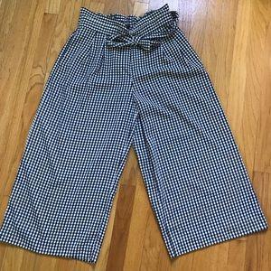 Zara High-Waisted Paperbag (Wide-legged) Pants